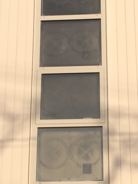 Vacuum Seal Marks on Double Glazed Windows Second Story